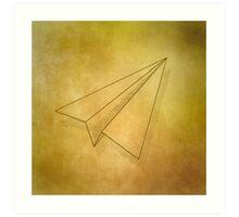 Paper Airplane 98 Art Print