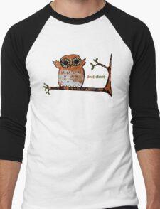 Don't Shoot Owl Men's Baseball ¾ T-Shirt