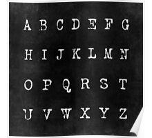 Alphabet in Black Poster