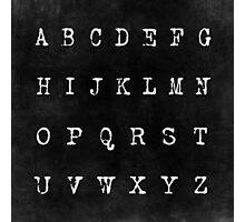 Alphabet in Black Photographic Print
