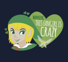 WARNING this fangirl is CRAZY! (with girly Link and fairy) Kids Clothes