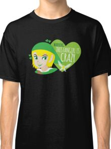 WARNING this fangirl is CRAZY! (with girly Link and fairy) Classic T-Shirt