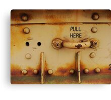 Pull Here Canvas Print