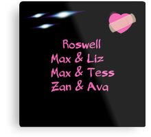 roswell tv show Max & his man Loves Metal Print