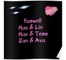 roswell tv show Max & his man Loves Poster