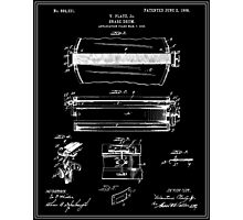 Snare Drum Patent - Black Photographic Print