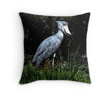 Shoe Billed Stork Throw Pillow