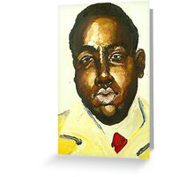 Young Biggie Smalls Greeting Card