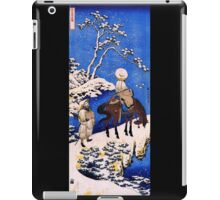 'The Poet Teba on a Horse' by Katsushika Hokusai (Reproduction) iPad Case/Skin