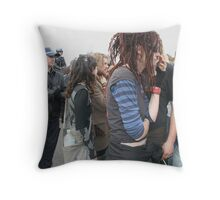 Standoff Newcastle Climate Change Protest Throw Pillow