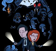 X-Files Mulder and Scully by Simon Magyar