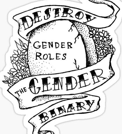 destroy the gender binary! Sticker