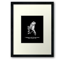 Dead Bird - It's very confusing.  Framed Print