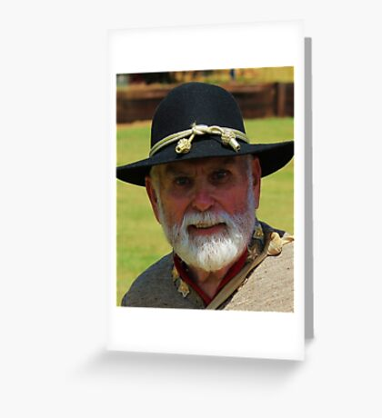 Confederate Officer Greeting Card