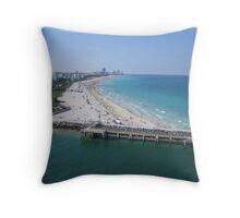 Florida Coastline in the Shipping Lane Throw Pillow