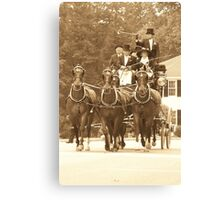 The Fox Hunt Carriage Canvas Print