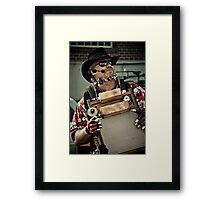 Music Man at the Fair Framed Print