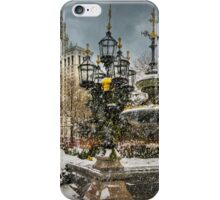 Snowstorm At City Hall iPhone Case/Skin