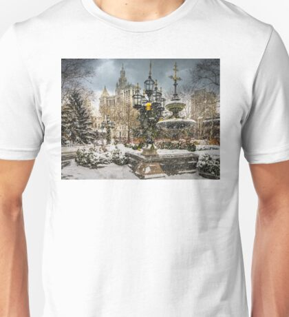 Snowstorm At City Hall Unisex T-Shirt