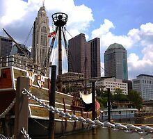 Columbus Cityscape: The Santa Maria by aeronaut