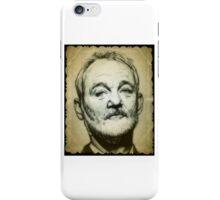 Bill Murray drawing iPhone Case/Skin