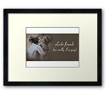 Lesbi Friends Framed Print