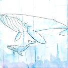 Watcolor Whales by cdmagrud