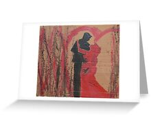 Black and Red Love Dance Greeting Card