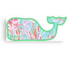 Lilly Pulitzer Whale Jellies Be Jammin Canvas Print