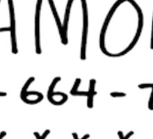 Ramona's Number Sticker
