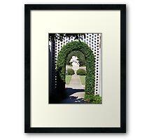 Doorway to the garden Framed Print