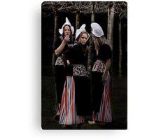Three dutch girls Canvas Print