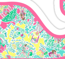 Lilly Pulitzer Whale In The Beginning Sticker
