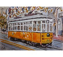 San Francisco Orange Streetcar Photographic Print