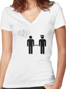 No more roleplay! Women's Fitted V-Neck T-Shirt