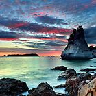 Te Hoho Rock, Flaming Embers by Ken Wright