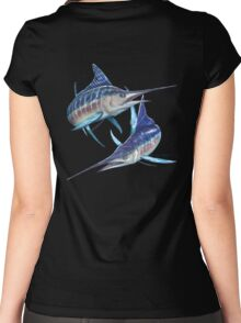 Striped Marlin Women's Fitted Scoop T-Shirt