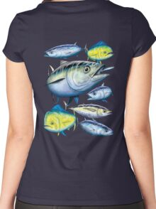 Tuna and Mahi Mahi Women's Fitted Scoop T-Shirt