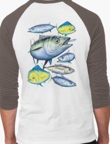 Tuna and Mahi Mahi Men's Baseball ¾ T-Shirt
