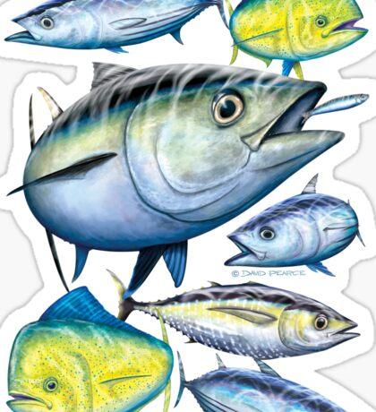 Tuna and Mahi Mahi Sticker