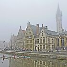 A foggy morning in Ghent by Graeme  Hyde