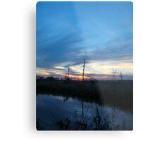 Blue Sky Smilin' at Me (OK so it was sundown) Metal Print