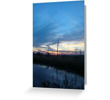 Blue Sky Smilin' at Me (OK so it was sundown) Greeting Card
