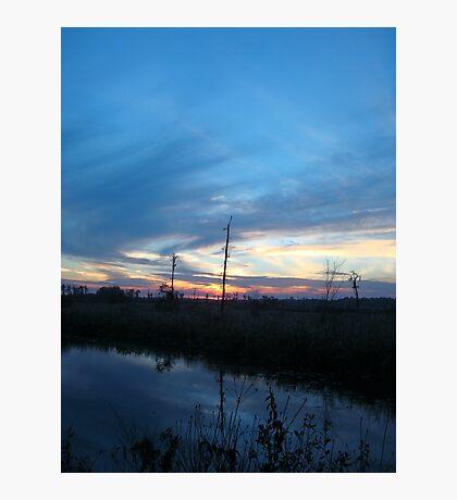 Blue Sky Smilin' at Me (OK so it was sundown) Photographic Print