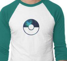 Galaxy Pokeball - ver Blue Men's Baseball ¾ T-Shirt