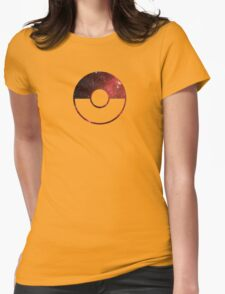 Galaxy Pokeball - ver Red Womens Fitted T-Shirt