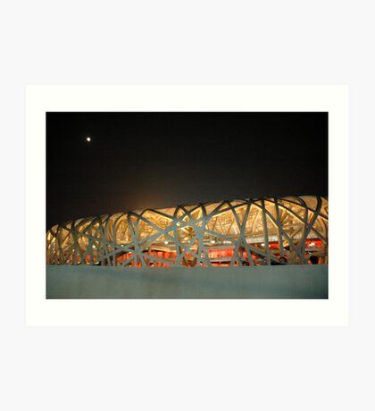 Bird's Nest Stadium Art Print