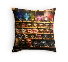 Venetian Faces Throw Pillow