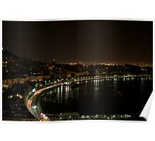 The Gulf of Naples at night Poster