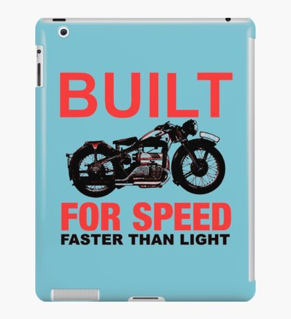 FASTER THAN LIGHT-RED iPad Case/Skin